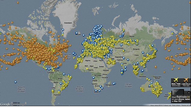 AIR TRAFFIC OUT OF CONTROL!  Really? 5000 planes in the sky over the USA as we speak?